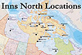 Inns North Locations Map