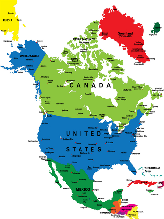 Map Of North America - Maps of north america